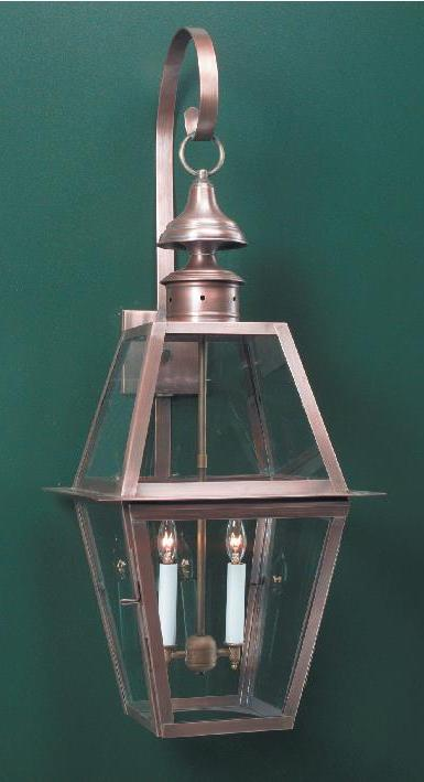 Hammerworks Traditional Wall Lanterns WML102 Handcrafted In Solid Copper With Antique Finish