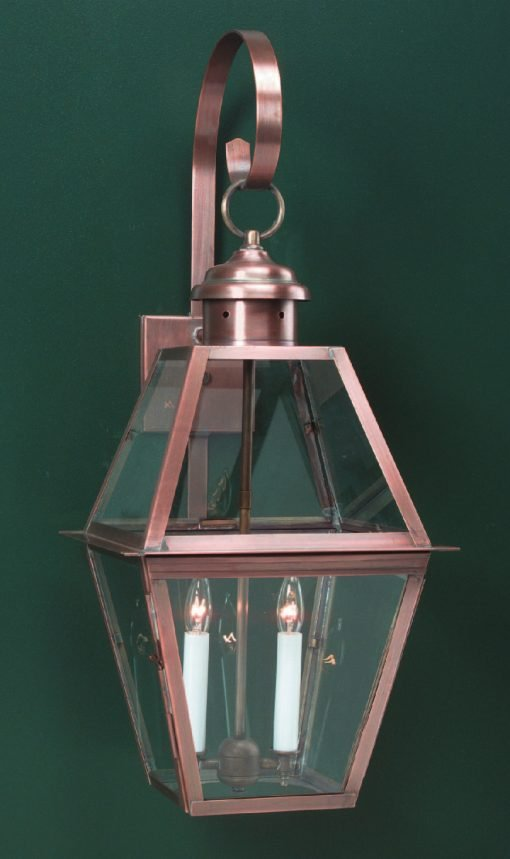 Colonial Wall Lantern WML112 Handcrafted With Solid Antiqie Brass