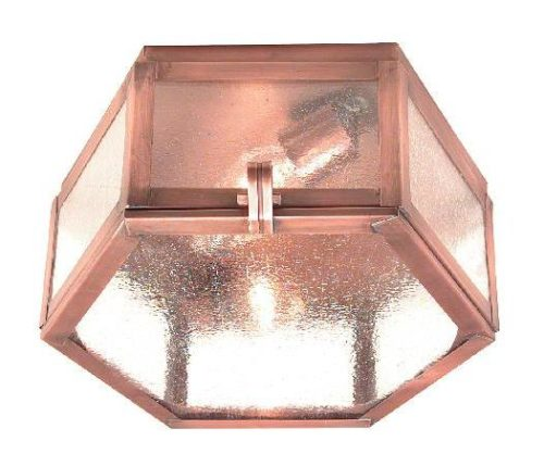 Hammerworks Copper Ceiling Lights: 1032FF Shown Handcrafted With Antique Copper Finish