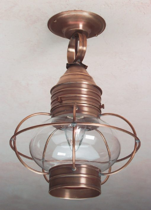 Solid Brass Colonial Onion Ceiling Lanterns: OCL108