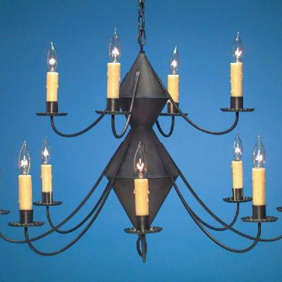 Hammerworks Reproduction Colonial Tin Chandeliers: Handmade With Antique Finish
