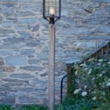 Colonial Copper Post Light On Wooden Cedar Lantern Post Model # P110