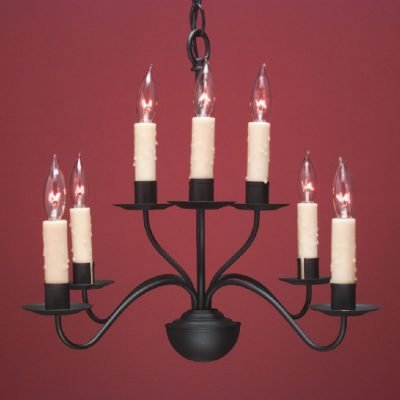 French Colonial Country Chandeliers FCCH503 Shown Painted Black