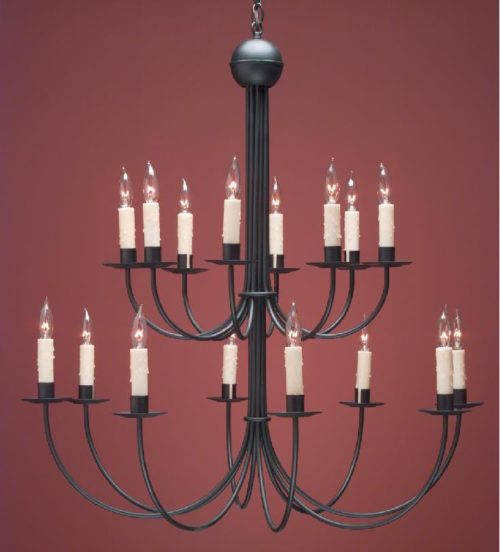 Hammerworks Colonial French Country Chandeliers FCCH 510A Handcrafted | Shown Painted Black