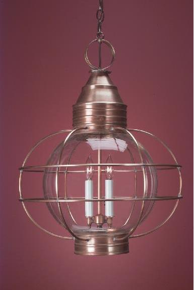 Hammerworks Colonial Copper Hanging Onion Lantern HRG12 Handcrafted Antique Finish