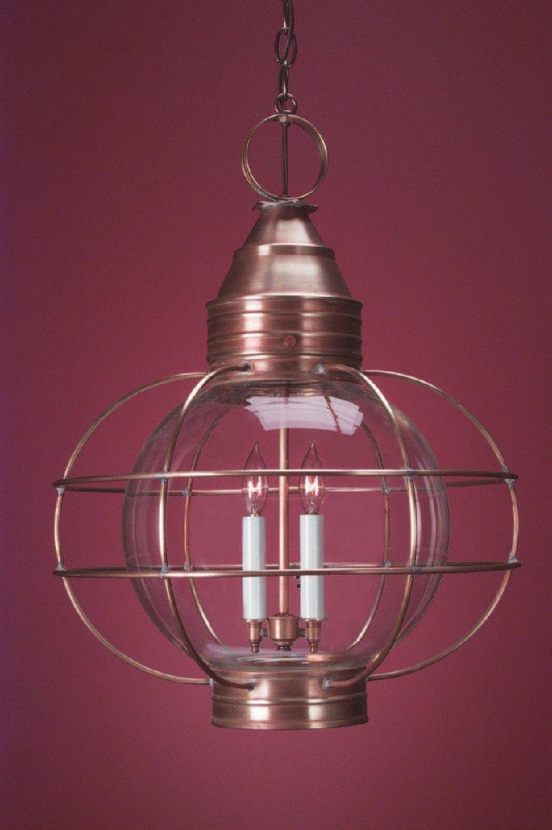 Colonial Copper Hanging Onion Lantern HRG12