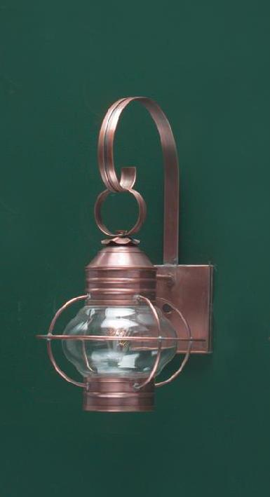 Hammerworks Copper Onion Wall Lantern: OL6 Shown Handcrafted With Solid Copper