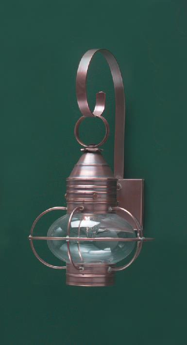Hammerworks Cape Cod Style Onion Wall Lanterns: OL8 Handcrafted With Solid Antique Copper