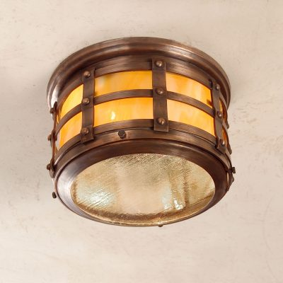 Tudor Style Ceiling Copper Light: Hammerworks Tudor Ceiling Light OWC1