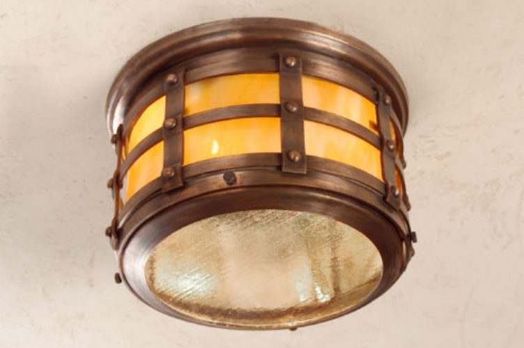 Hammerworks Tudor Style Ceiling Copper Light: Hammerworks Tudor Ceiling Light OWC1