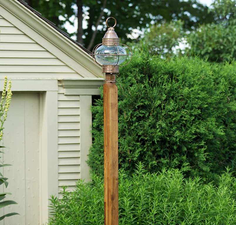 Handcrafted Solid Copper Onion Post Lantern POL12