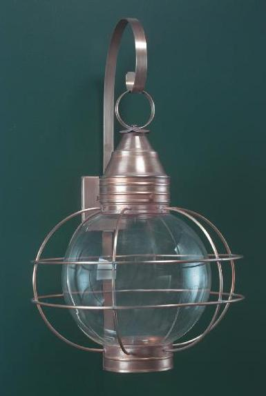 Hammerworks Colonial Onion Wall Light: RG12 Shown Handcrafted With Solid Copper In Antique Finish