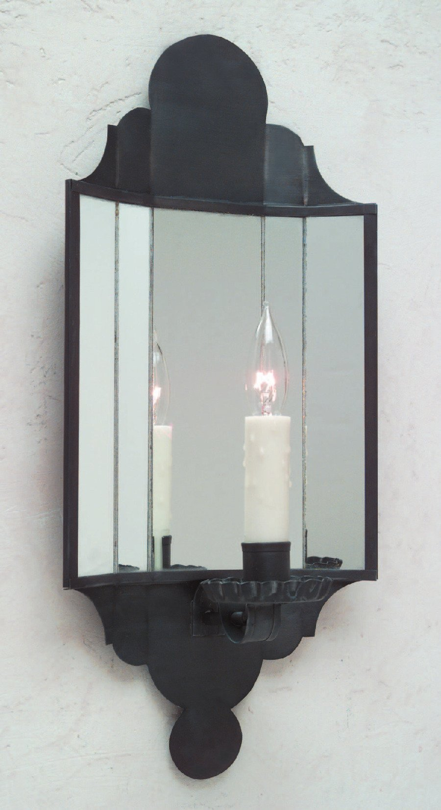 Carpenter Hall Tin Mirrored Wall Sconce S133A