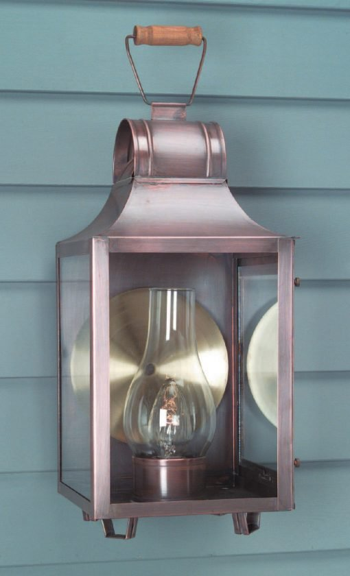 Antique Copper Colonial Wall Light W101