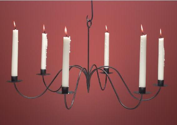 Primitve Hand-Forged Candle Chandelier WICH106