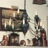 Hammerworks Colonial Antique Tin Reproduction Chandelier Ch201 Shown
