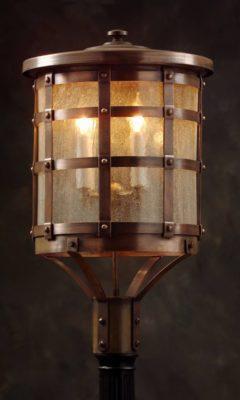Hammerworks Tudor Style Copper Post Lantern OWP1