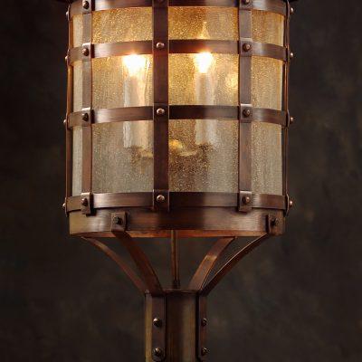 Tudor Style Copper Post Lantern OWP1