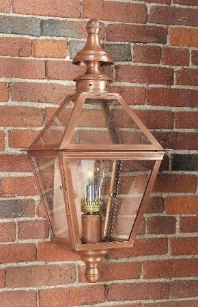 Hammerworks Colonial Copper Wall Light WM212 Handcrafted With Antique Finish