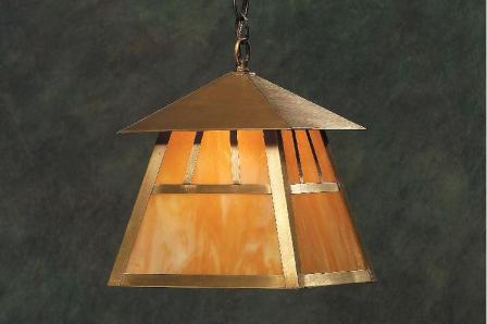 Hammerworks Craftsman Style Brass Hanging Lantern ACH337