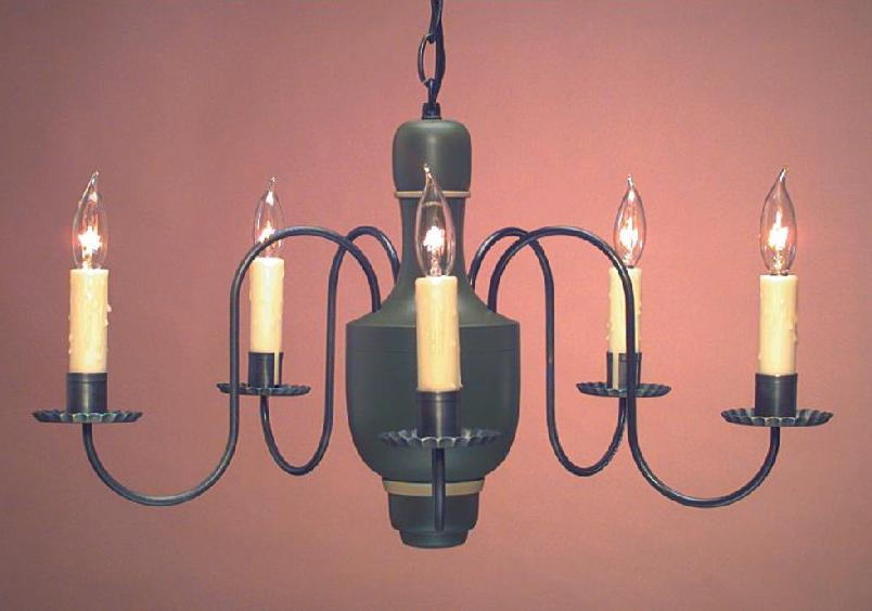 Hammerworks Colonial Dining Room Wooden Chandeliers: Model # CH107