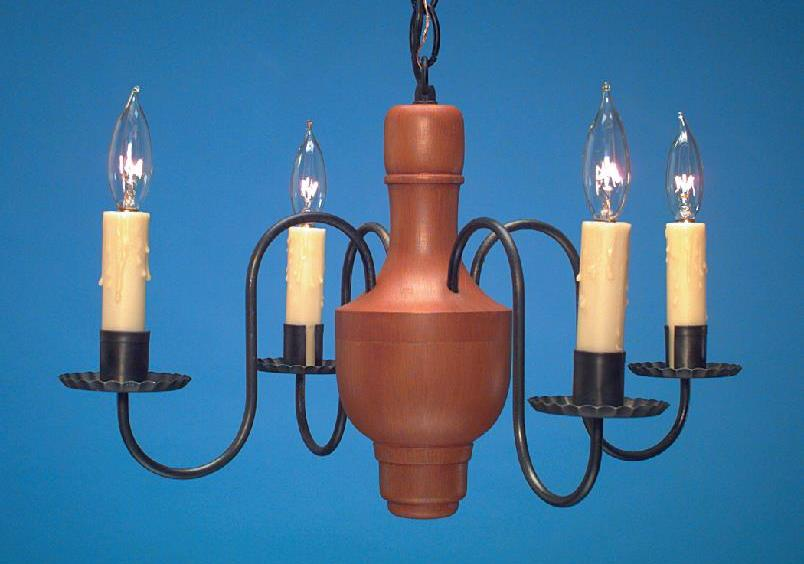 Country Wooden Chandelier: Hammerworks Model CH112