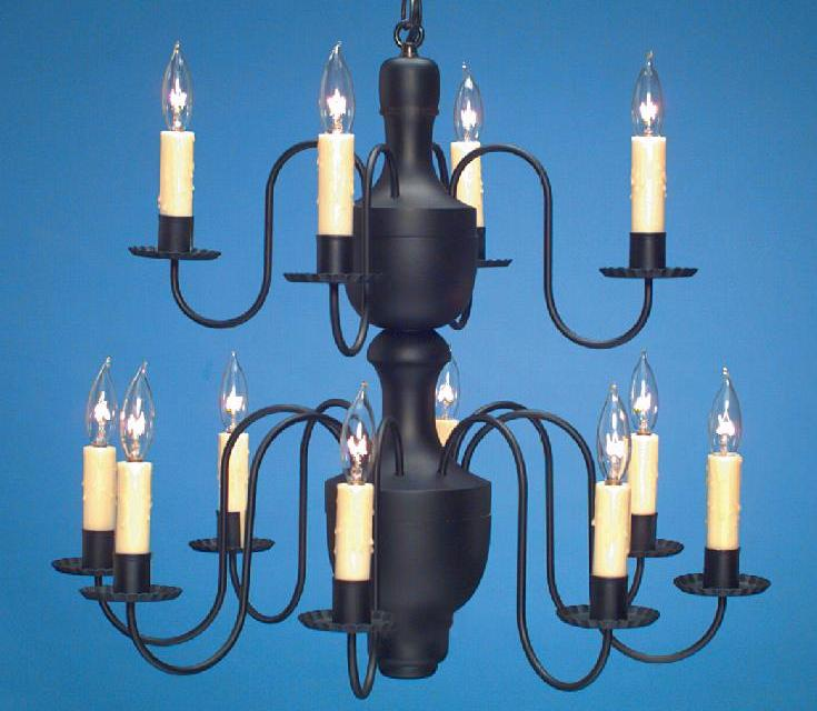 Hammerworks Handcrafted Wood Chandelier Model CH202