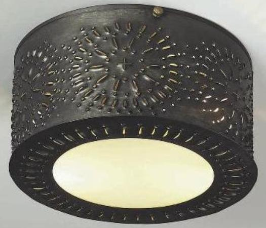 Pierced Antique Ceiling Light