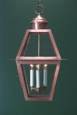 Hammerworks Handcrafted Copper Colonial Pendant Light H112 With 3 Lights
