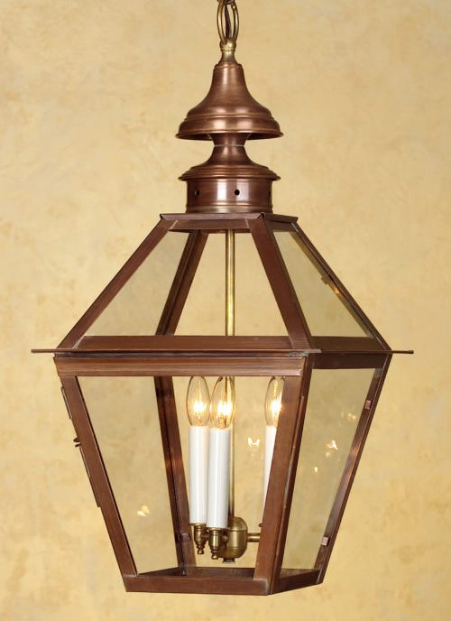 Colonial Copper Hanging Lantern