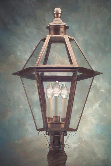 New England Style Copper Post Light P105