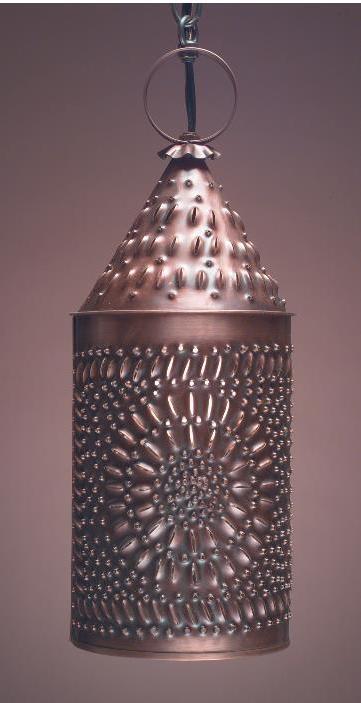 Handmade Punched Copper Vanity Light PL1
