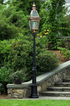 Colonial Style Light Poles Posts Aluminum Cedar Wood