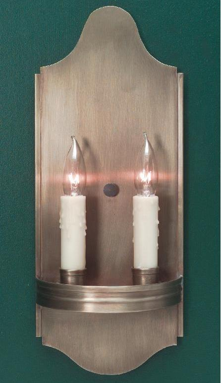 Hammerworks Primitive Brass Wall Sconce S127 Shown In Antique Finish