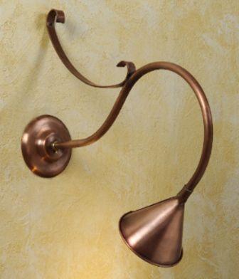 Hammerworks Gooseneck Sign Lights SL501A Shown In Solid Antique Copper