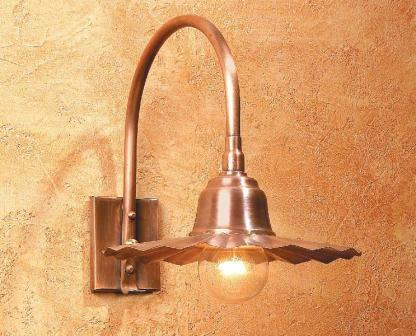 Hammerworks Copper Sign Light SLS507 Handmade In Solid Copper With Antique Finish