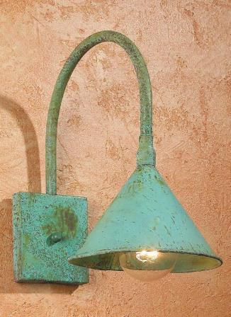 Solid Verdigris Copper Doorway Light Fixture SLS508