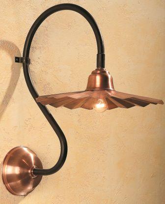 Solid Copper Outdoor Gooseneck Light SLS504