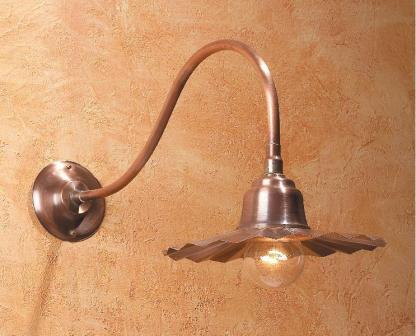 Hammerworks Gooseneck Lighting Fixture SLS506A Handcrafted With Solid Copper