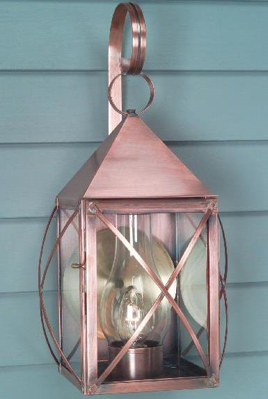 Hammerworks Colonial Home Copper Wall Light W118 Handmade In Solid Copper With Antique Finish