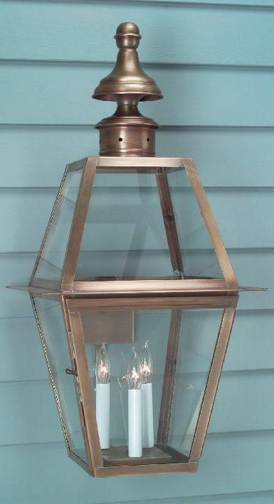 Hammerworks Traditional Wall Lantern WM102 Handcrafted With Solid Antique Brass or Copper
