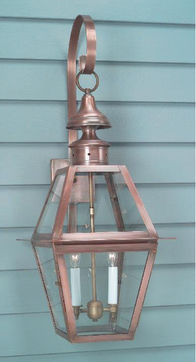 Hammerworks Colonial Williamsburg Style Wall Lights WML102A Handmade With Solid Antique Copper