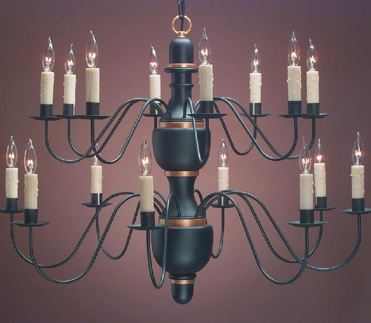 Hammerworks Model # CH322 Hand Turned Wood Center Chandelier