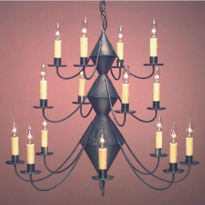 Hammerworks Adirondack Style Lighting Fixtures-Tin Chandelier CH303